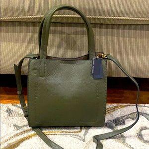 Banana Republic NWT olive med Italian leather bag